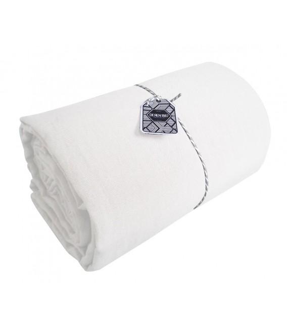 drap plat en lin lav coloris blanc pressing de la cote. Black Bedroom Furniture Sets. Home Design Ideas