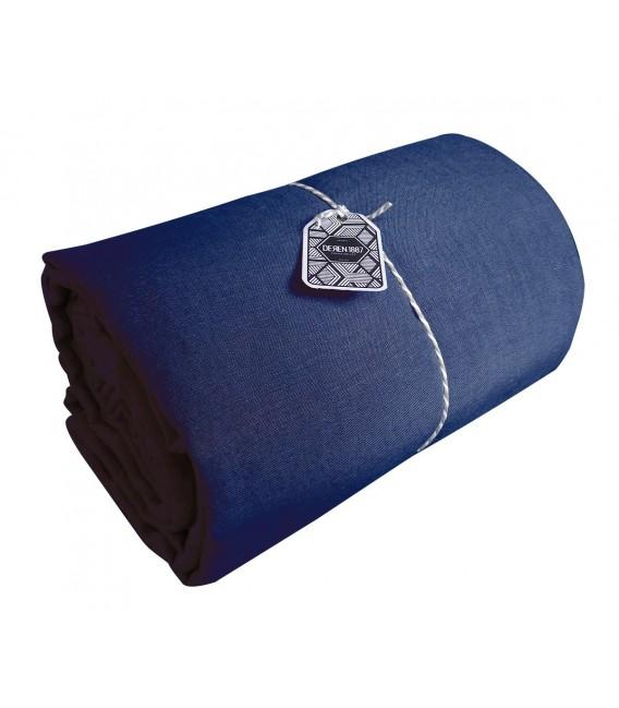 drap plat en lin lav coloris cobalt pressing de la cote. Black Bedroom Furniture Sets. Home Design Ideas