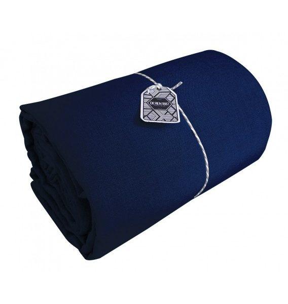 drap plat en lin lav coloris encre pressing de la cote. Black Bedroom Furniture Sets. Home Design Ideas