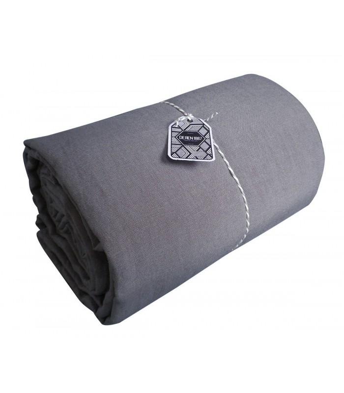 drap plat en lin lav coloris orage pressing de la cote. Black Bedroom Furniture Sets. Home Design Ideas