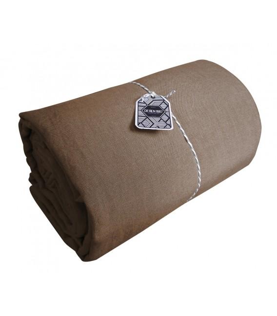 drap plat en lin lav coloris taupe pressing de la cote. Black Bedroom Furniture Sets. Home Design Ideas